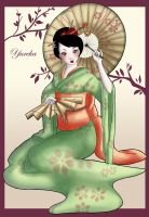 Geisha color by Yureka-chan