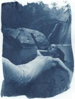 Kat at Kilgore Cyanotype by coldmarble