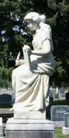 Mount Olivet Cemetery Woman 97 by Falln-Stock