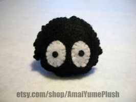 Felted Soot Sprite From Spirited Away by Hazuhazuheavn