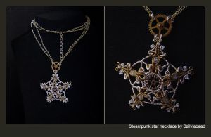 Steampunk star necklace by bodaszilvia