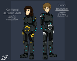 Character Profiles - Guy and Thomas by LowRend
