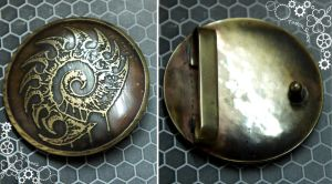 Zerg Belt brass buckle by TimforShade