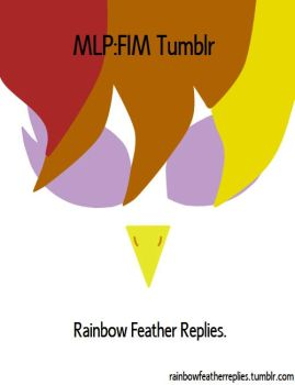 Rainbow Feather Replies Poster by MPP by Q99