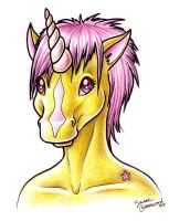 Anthro Unicorn Headshot by sufistuk8ed