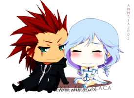 Axel and Seaca : Chibi by annria2002