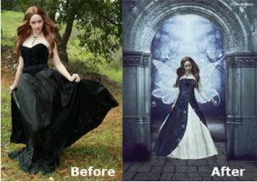 Before and After (Fairy in wonderland) by AnGel-Perroni