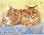 Ginger Cats Portrait by sschukina