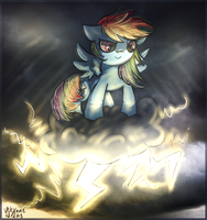 Illustration Friday: Storm (Rainbow Dash~) by Velexane