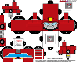 Rescue BOTS HeatWave cubee template by lovefistfury