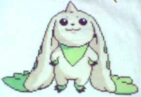 Cross Stitch - Terriermon by EeveeChan