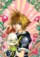 Sora and Chicken Little by Autumn-Sacura