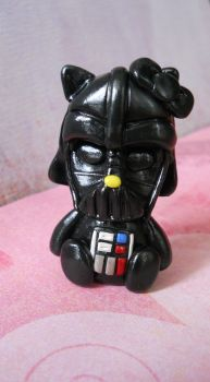 Darth vader hello kitty sculpture by rude-and-reckless