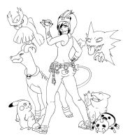 Trainer -lineart- by Schitzo-Cupcake