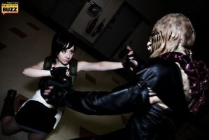 Nemesis and Jill Valentine - Resident Evil by Paper-Cube