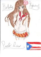 Hetalia Highschool: Puerto Rico by MinaSenju
