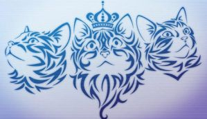 GIMP Tribal Kittehs by Graphicclouds