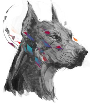 Polygon Doberman by shimhaq98