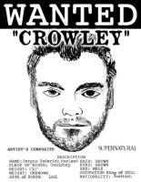 Supernatural Crowley Wanted Poster by Brandtk