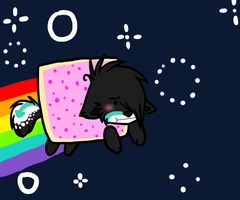 Nyan nyan cat by Blood-Demon-Shinobi