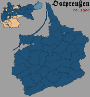 East Prussia District Map (1900) by ValdoreJavorsky