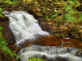 Ricketts Glen State Park 72 by Dracoart-Stock