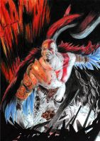 Kratos God Of War II by Bring-the-Pain40