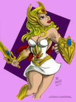 She-Ra by ChaChaMan - coloured by haydenyale