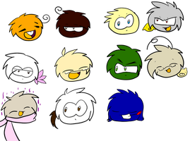 Puffle Hetalia part1 by KittyPony-Drawings