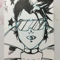 Jubilee BW Sketchcard  by JasonScholte