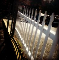 The Fence Leading Home by Flowerintherain77