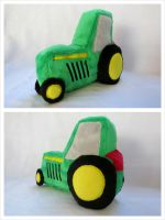 Stuffed Tractor Baby Toy by equinepalette