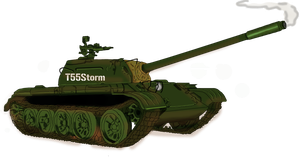 T-55 tank by CrimsonJersey