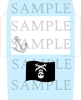 Pirate Stationery Envelope 1 by cuteordeath