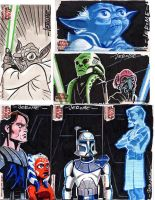 Clone Wars sketch cards 3 by sobad-jee