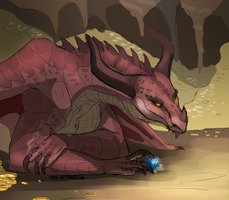 Dragon hoard /sketch by Triple-Torch-Art