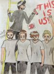 One Direction traditional art by Animelucky