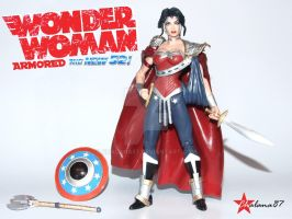 Wonder Woman New 52 armored custom action figure by Chalana87
