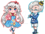 Operetta and Iorath Chibi - RL commission by Caim-The-Order