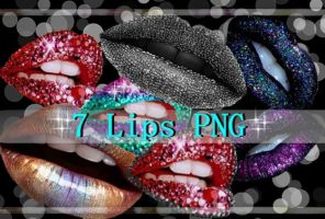 7 Lips PNG by NatyJonasProductions