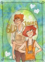 Gilly and Junina by Hailann
