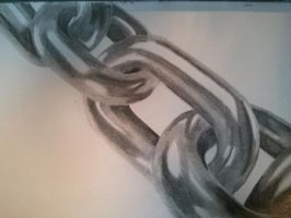 Pencil Drawing Of A Chain by RyanLKirk