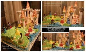 Disney Princess Cake by Terrauh