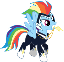 Power Pony: Rainbow Dash (Zapp) by dasprid