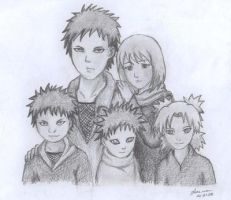 Gaara's family by Alma-R