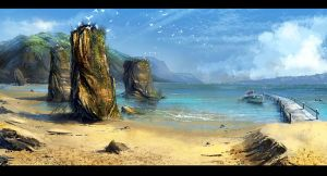 Beach landscape by gunsbins
