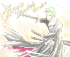 Roronoa Zoro in Bleach version by sapphirez