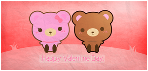 Happy Valentine Day Cute Bear by malejoveza