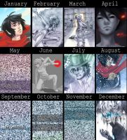 2013 summary of art by DamaiMikaz