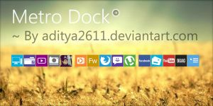Metro | Dock for Rainmeter by aditya2611